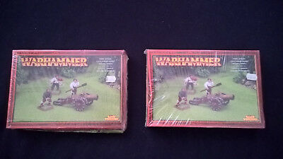 Warhammer - Empire Artillery x 2 - *sealed* 2003 - rare
