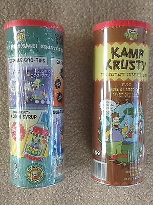 Simpsons Pickers Collector's Tubes x 2 (NEW and Complete)