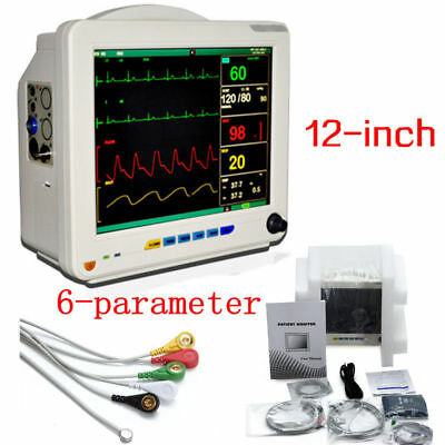 6 Parameter 12.1' Patient Monitor NIBP/SPO2/ECG/TEMP/RESP/PR Medical Equipment