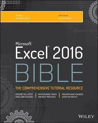 New:Microsoft Excel 2016 Bible by John Walkenbach