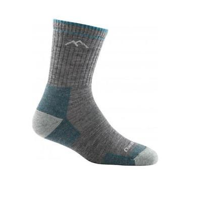 Darn Tough Women's Solid Micro Crew Cushion Socks, Slate, M