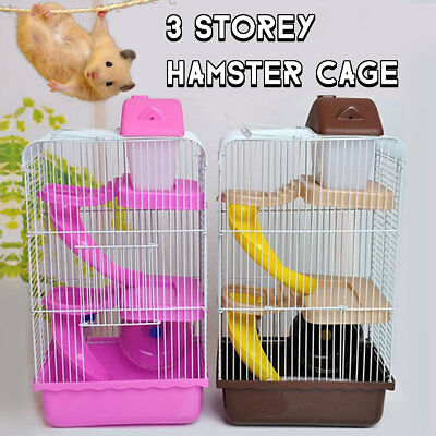 Hamster House Mouse Castle Habitat Mice Rat Cage Bottle 3 Layers Pet Supply Home