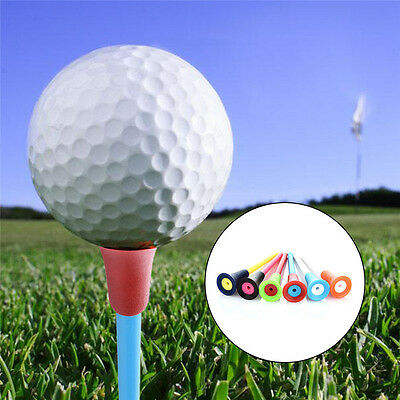 Mixed Color 83mm Rubber Top Golf Tees Golfer Training Golf Acceessories 50Pcs