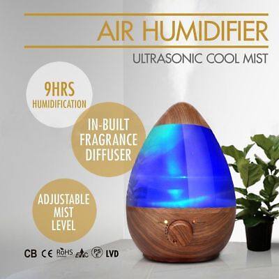 Air Humidifier Oil Ultrasonic Cool Mist Steam Nebuliser Aroma Diffuser Purifier*