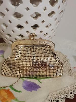 Genuine Glo Mesh Purse Gold Never Used