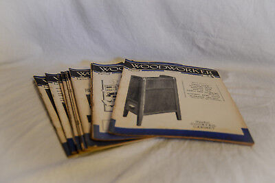WOODWORKER Magazine Joblot, 1957 10 Issues Carpentry, DIY, Vintage