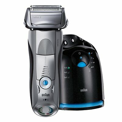 Braun Series 7 7898cc Wet & Dry Electric Shaver with Clean & Charge System - Sil