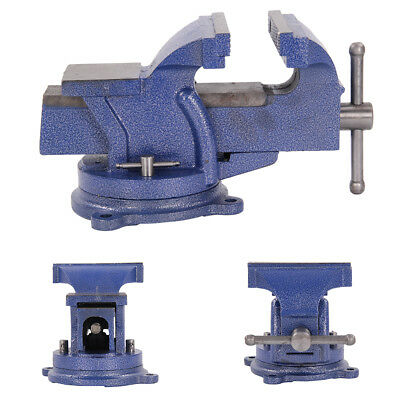 """6"""" Engineer Vice Vise Swivel Base 360° Workshop Clamp Jaw Work Bench Table"""