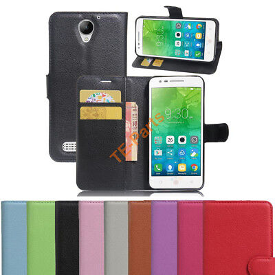 Luxury Flip PU Leather Slim Wallet Magnetic Case Cover For Lenovo Vibe C2 Power