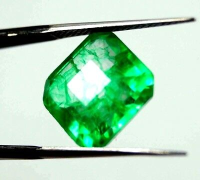 New Year Offer GGL Certified 8.30 Ct Natural Radiant Cut Green Emerald Gemstone