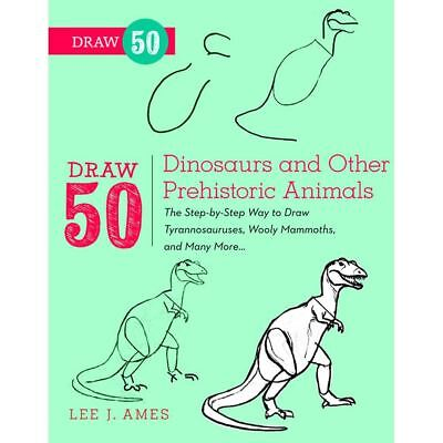 Hobbycraft Draw 50 Dinosaurs and Other Prehistoric Animals Art Drawing Book