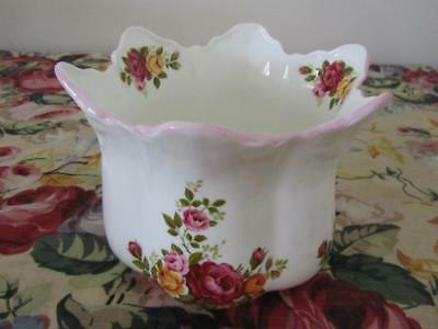 Fine Bone China Country Roses Planter Pot Staffordshire England