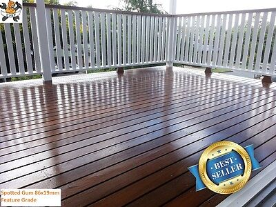 SPOTTED GUM 86x19mm DECKING $2.45 - BULK BUY DISCOUNT