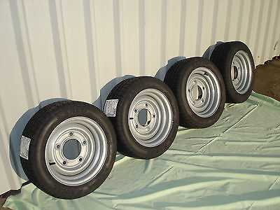TRAILER WHEELS & TYRES 4 x 195/50 R13C, NEW, IFOR WILLIAMS,INDESPENSION,BATESON