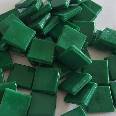 Murano Tiles 15x15mm - x 50pc - Deep Green