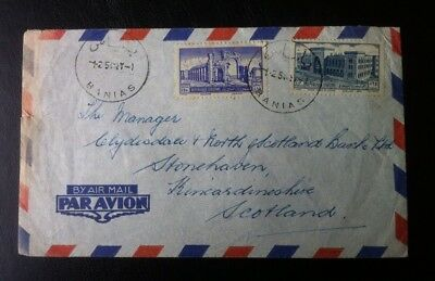 Syria Cover To Scotland, The Manager Of Clydesdale & North Scotland Bank 1.2.54