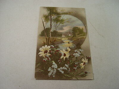 OTH418 - Postcard - Country Scene