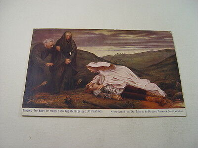 OTH213 - Postcard - Finding Body of Harold on Battlefield at Hastings 1906