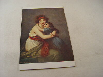 OTH575 - Louvre Postcard - Portrait of Mme Vigee-Lebrun & her daughter