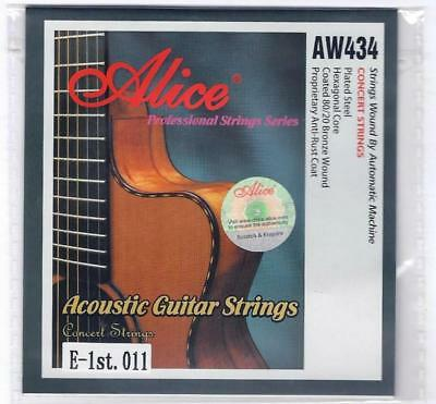5 x Single Acoustic Guitar Strings Strings 11s 12s Top E 1st Plain Steel