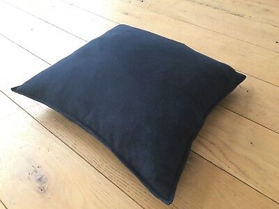 "H&M Linen Cushion Cover complete with Feather Cushion 22"" 56cm"