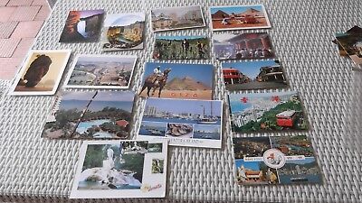 Bulk lot of mixed postcards x 15 - used and unused - can pick up