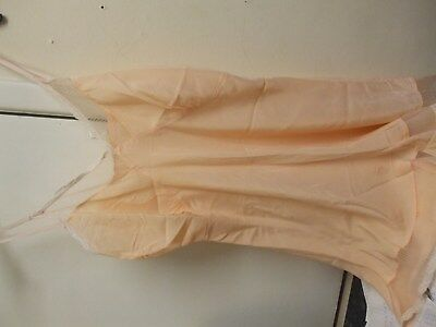 womens all in one under garment 1940s peach buttons 36 inch bust french knickers