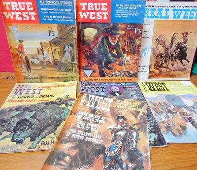 JOB LOT (x7) REAL WILD WEST MAGAZINES: REAL WEST, THE WEST. VINTAGE