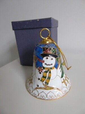 VINTAGE CLOSIONNE BELL CHRISTMAS DECORATION. UK Seller .Origional box.