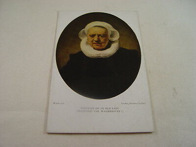 OTH479 - Postcard - Portrait of an Old Lady, Rembrandt
