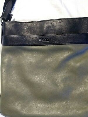 Coach crossbody bag leather unisex man's or woman's gently used