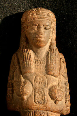 large Egyptian Ushabti with pharao cartouche hieroglyphs Tuthmosis IV?