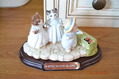 Beatrix Potter Tableau , Mittens Tom Kitten, And Moppet.