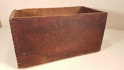 Ultra RARE Antique Calumet Baking Powder Wooden Sign SHIPPING CRATE - COOL!