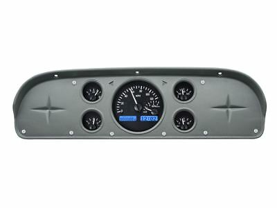 Dakota Digital 1957-60 Ford PU Gauges Black Face~Blue Display VHX-57F-PU-K-B