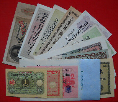 13 x Money/Banknote Collection from German Land, ...all in UNC/aUNC condition !!