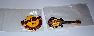 Vintage 1990s Hard Rock Cafe Orlando Florida Pins Guitar