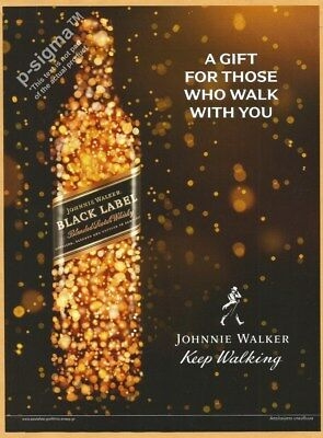 JOHNNIE WALKER Black Label Scotch Whisky 2017 Print Ad