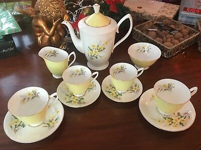 Royal Albert Yellow Primrose Tea/coffee Set