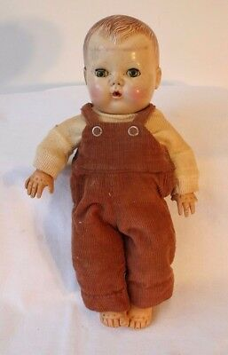 "Vintage American Character TINY TEARS Doll 13"" Sleep Eyes Rubber Body"