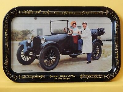 Vintage Lawerence Welk & Alice, 1914 Dodge Serving Tray