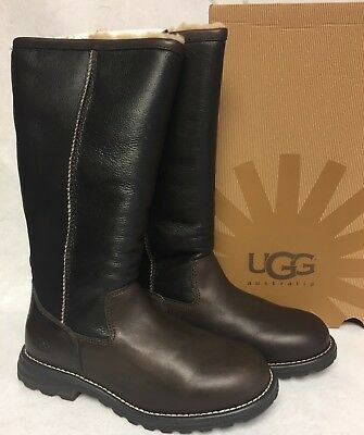e87aa4944b1 UGG AUSTRALIA FOXLEY Boots Black Fur Leather All Sizes $450 New in ...