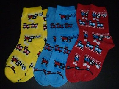 Three Pairs of Train Socks-Brand New for 3-5 years