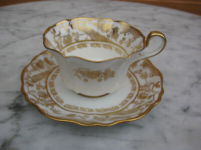 Paragon Cup and Saucer. White with Gild Pattern Early 1900's made by Star China