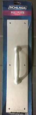 """LOT of 3!!! Schlage Pull Plate C8311 5PA 28 Satin Aluminum 3.5"""" x 15"""""""