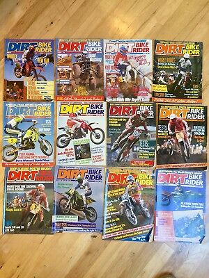 Dirt Bike Rider Magazines (UK) Complete 1986