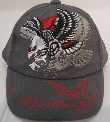 Ed Hardy Kids Gray Baseball Cap Hat With Eagle Size 2-4 Years Toddler