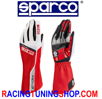 GUANTI KART SPARCO TRACK KG-3 ADULTO E BAMBINO rossi KARTING GLOVES HANDSCH