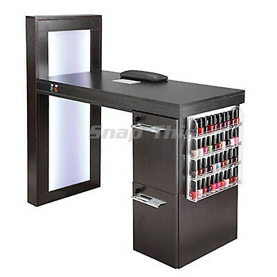 Nail Art Desk Manicure Table Salon Technician Pedicure Workstation Storage Fan