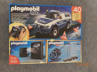 Playmobil City Action 5528 # Polizeiauto + Kamera-Set + RC-Modul-Set NEU OVP